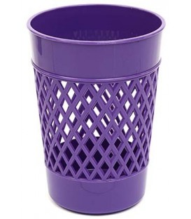 Стакан для канцелярских принадлежностей «Карандашница» 100*75 мм, фиолетовый
