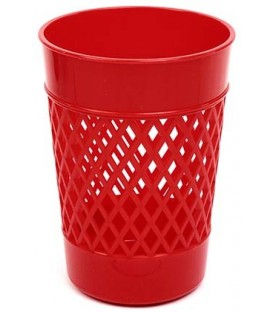 Стакан для канцелярских принадлежностей «Карандашница» 100*75 мм, красный