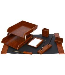 Набор настольный из 7 предметов Cabinet дерево (МДФ), коричневый