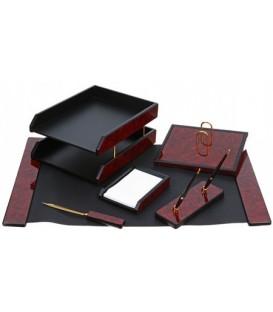 Набор настольный из 6 предметов Cabinet дерево (МДФ), коричневый с черным