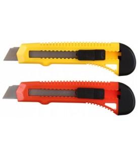 Нож канцелярский Economix ширина лезвия 18 мм, ассорти (цена за 1 шт.)