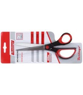 Ножницы канцелярские Office Soft 210 мм, ручки черные с красным