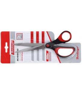 Ножницы канцелярские Office Soft 190 мм, ручки черные с красным