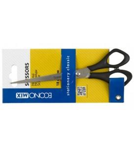 Ножницы канцелярские Economix 180 мм, ручки черные