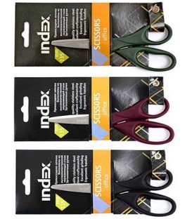 Ножницы канцелярские Index 135 мм, ассорти (цена за 1 шт.)