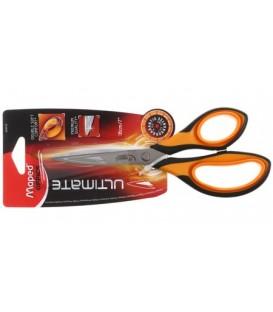 Ножницы канцелярские Maped Ultimate 180 мм, ручки черные с оранжевым