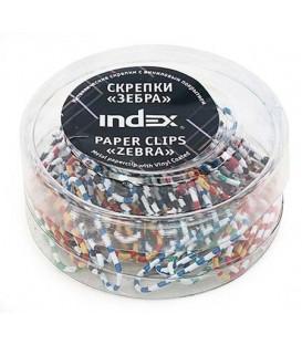 Скрепки «Зебра» Index 28 мм, 50 шт., в пластиковой коробочке