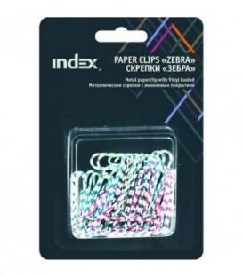 Скрепки «Зебра» Index 32 мм, 40 шт., в блистере