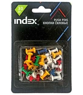 Кнопки силовые Index 23 мм., 30 шт., в блистерной упаковке с европодвесом