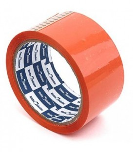 Клейкая лента упаковочная цветная Klebebander 48 мм*57 м, толщина ленты 40 мкм, оранжевая