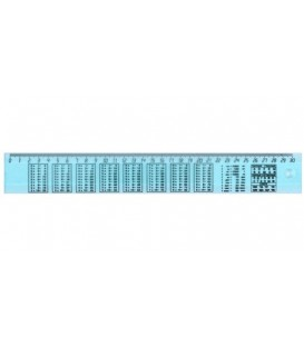 Линейка пластиковая «Юниопт» 30 см, арифметическая, прозрачная голубая
