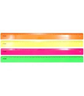 Линейка пластиковая «Стамм» 50 см, флуоресцентная, ассорти (цена за 1 шт.)
