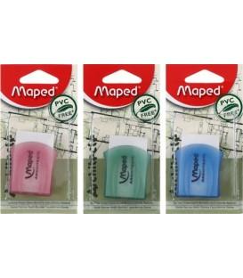 Ластик Maped Architecte 50*30*10 мм, белый (цвет чехла ассорти, цена за 1 шт.)