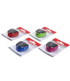 Точилка пластиковая Berlingo 1 отверстие, с контейнером, ассорти (цена за 1 шт.)
