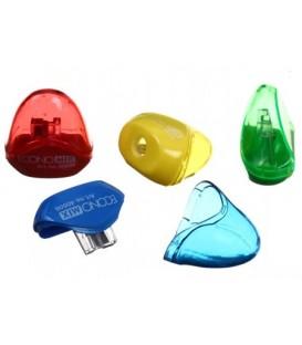 Точилка пластиковая Economix 1 отверстие, с контейнером, ассорти (цена за 1 шт.)