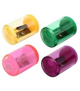 Точилка пластиковая schoolФормат 1 отверстие, с контейнером