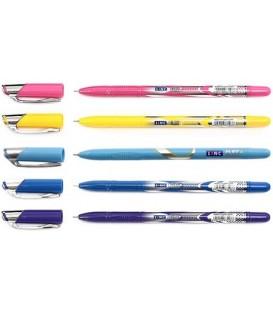 Ручка шариковая Linc Gliss корпус ассорти, стержень синий