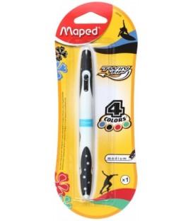 Ручка шариковая автоматическая многофункциональная Maped Twin Tip корпус белый с черным, 4 стержня