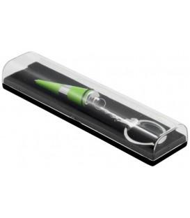 Ручка подарочная одноразовая с брелком Grace шариковая, корпус зеленый
