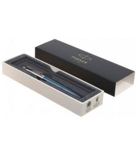 Ручка подарочная шариковая Parker Jotter Waterloo Blue CT корпус серебристый с голубым