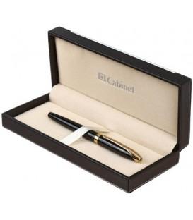 Ручка подарочная перьевая Cabinet Geneva корпус черный с золотистым