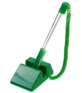Ручка шариковая на подставке Sponsor STP879 корпус зеленый, стержень синий