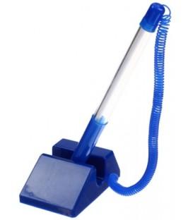 Ручка шариковая на подставке Sponsor STP879 корпус синий, стержень синий