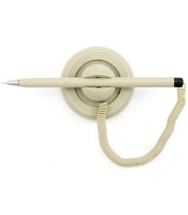 Ручка шариковая на подставке Economix корпус серый, стержень синий