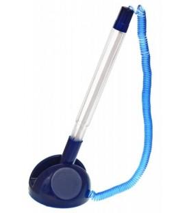 Ручка шариковая на подставке Sponsor корпус прозрачный+синий, стержень синий