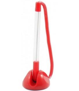 Ручка шариковая на подставке Sponsor корпус прозрачный+красный, стержень синий