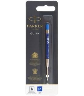Стержень гелевый для шариковых автоматических ручек Parker тип А1, 98 мм, пулевидный, M, синий
