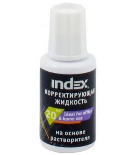 Корректирующая жидкость Index 20 мл, на основе растворителя (спирт), с кисточкой