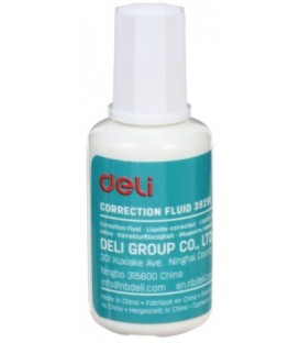 Корректирующая жидкость Deli 20 мл, на основе растворителя, с кисточкой