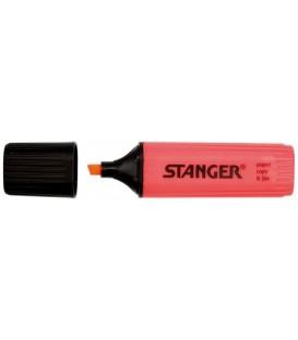 Маркер-текстовыделитель Stanger красный (коралловый оттенок)