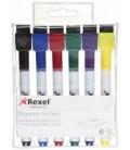 Набор маркеров для вайтбордов Rexel 6 цветов
