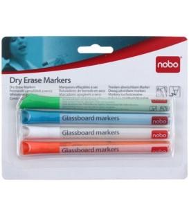 Набор маркеров Nobo 4 цвета