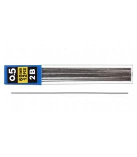 Грифели для автоматических карандашей Economix толщина грифеля 0,5 мм, твердость 2М, 12 шт.