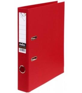 Папка-регистратор Index с двусторонним ПВХ-покрытием корешок 50 мм, красный