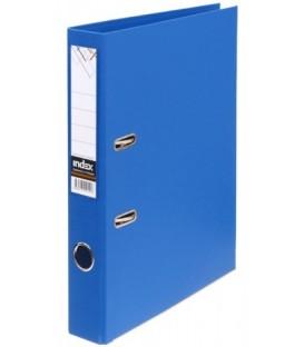 Папка-регистратор Index с двусторонним ПВХ-покрытием корешок 50 мм, синий