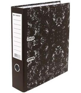 Папка-регистратор inФормат «под мрамор» корешок 75 мм, черный