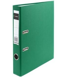 Папка-регистратор inФормат с односторонним ПВХ-покрытием корешок 50 мм, зеленый