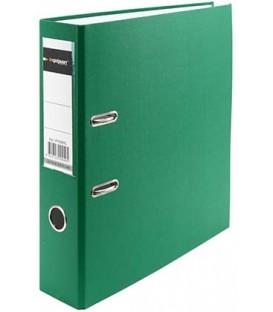 Папка-регистратор inФормат с односторонним ПВХ-покрытием корешок 70 мм, зеленый