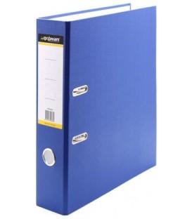 Папка-регистратор inФормат с односторонним ПВХ-покрытием корешок 70 мм, синий