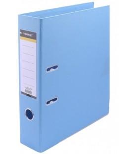 Папка-регистратор inФормат с двусторонним ПВХ-покрытием корешок 75 мм, голубой