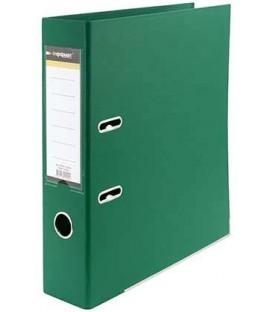 Папка-регистратор inФормат с двусторонним ПВХ-покрытием корешок 75 мм, зеленый