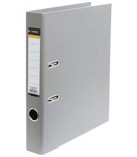 Папка-регистратор inФормат с двусторонним ПВХ-покрытием корешок 55 мм, серый