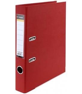Папка-регистратор inФормат с двусторонним ПВХ-покрытием корешок 55 мм, красный
