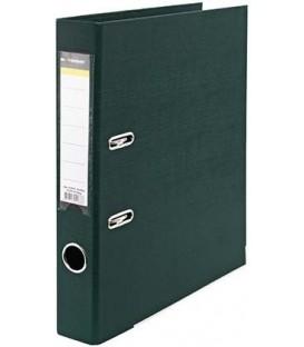 Папка-регистратор inФормат с двусторонним ПВХ-покрытием корешок 55 мм, темно - зеленый