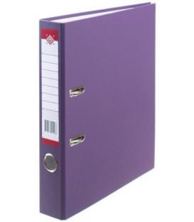 Папка-регистратор «Красная звезда» с односторонним ПВХ-покрытием корешок 50 мм, фиолетовый
