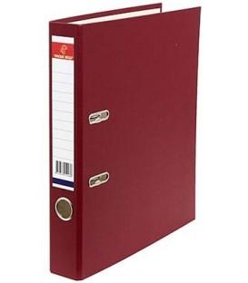 Папка-регистратор «Красная звезда» с односторонним ПВХ-покрытием корешок 50 мм, бордовый